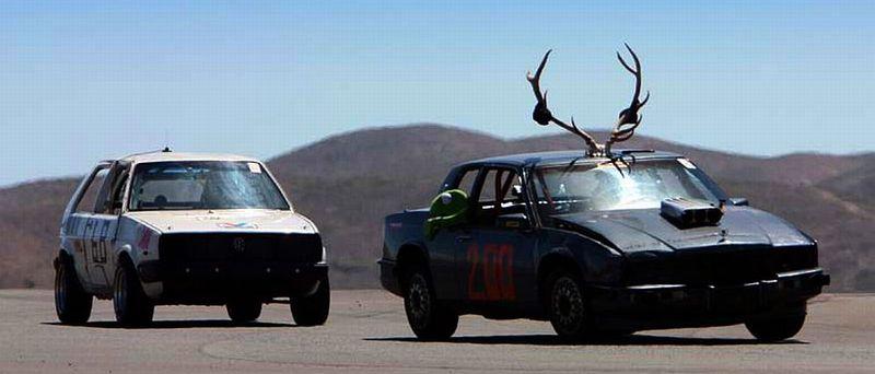 Horns on Race Car