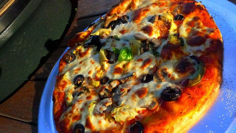 Green Egg Pizza