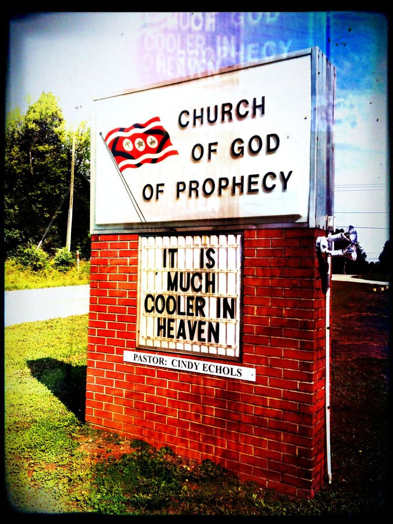 Wacky Church Sign