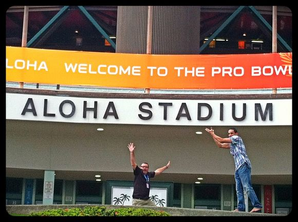 Photo Bomb at The Pro Bowl